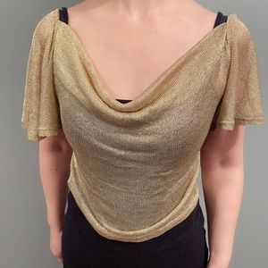 Tops - NWOT Urban outfitters gold metallic top M